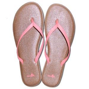 (9) Sanuk Thin Strappy Sandals